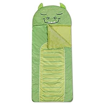 Heritage Kids Monster Plush Hooded Sleeping Bag 64  L x 25  W Green