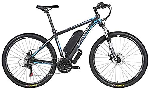 Electric Bikes, Electric mountain bike, 36V10AH lithium battery hybrid bicycle, (26-29 inches) bicycle snowmobile 24 speed gear mechanical line pull disc brake three working modes,Blue,16 * 17in ,E-Bi