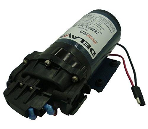 Delavan 7822FS-201-SB Flex Diaphragm Pump 12V, 60 PSI, 2.2 GPM, Demand Pump with 3/4' QA Ports
