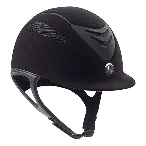 One K Unisex Defender Suede Protective Riding Helmet, Black Matte, X-Large