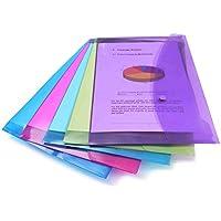 Rapesco documentos 5 unidades Carpeta portafolios A4+ con soporte para tarjeta colores trasl/úcidos
