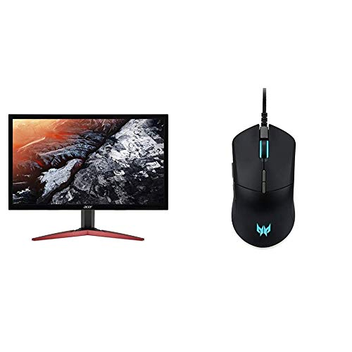"""Acer KG241Q Pbiip 23.6"""" Full HD (1920 x 1080) TN 144Hz 1ms Monitor with AMD FREESYNC Technology (Display Port & 2 x HDMI) with Acer Predator Cestus 330 Gaming Mouse"""