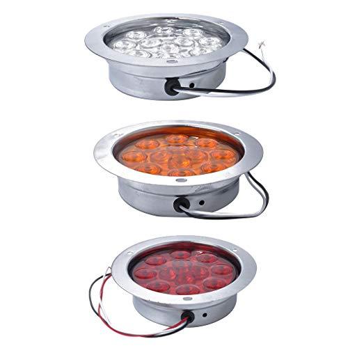 Homyl 3X Phare Lampe 12 LED Ampoule de Frein Indicateur Moto Lumière Camion RV 12V 24V