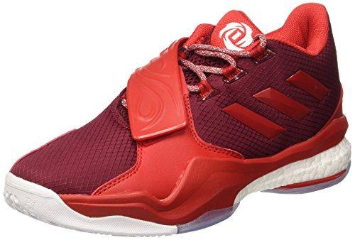 adidas Herren D Rose Englewood Boost Basketballschuhe, Rot (Buruni Rojray Ftwbla), 48 2/3 EU