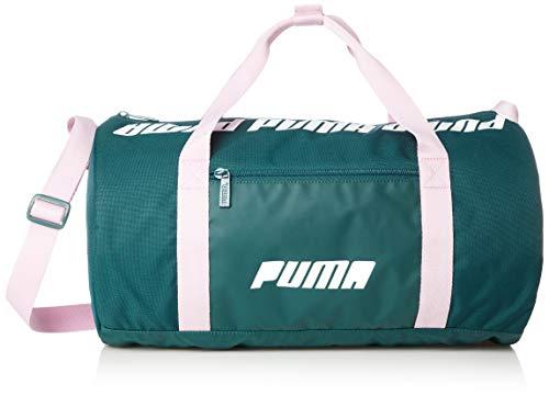 Puma WMN Core Barrel Bag S dames sporttas grenengroen pale roze