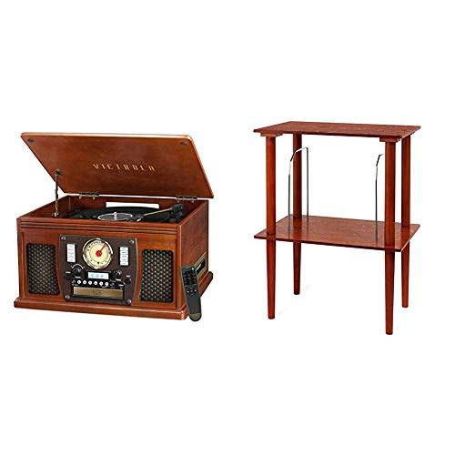 Victrola Navigator 8-in-1 Bluetooth Record Player & Multimedia Center with Built-in Stereo Speakers - 3-Speed Turntable, Vinyl to MP3 Recording | Wireless Music Streaming | Mahogany, 1SFA, Model Number: VTA-600B-MAH