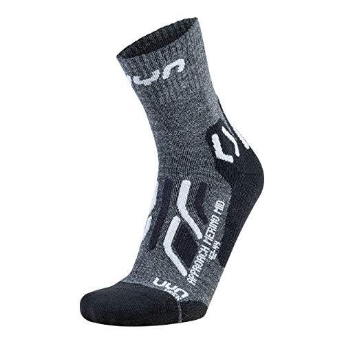 UYN Herren Trekking Approach Merino MID Socks, Anthracite/Black, 42/44