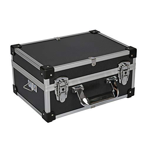 Maletín de aluminio para almacenaje 32x23x15,5cm Caja herramientas Maletín cerradura portátil