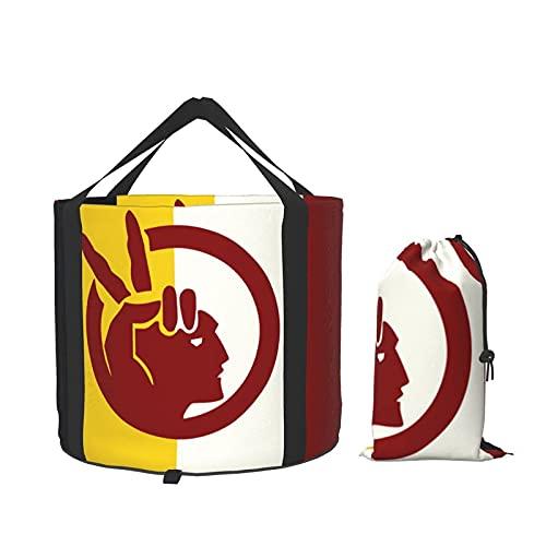 Bandera del movimiento indio americano portátil al aire libre camping plegable cubo de jardinería plegable cubo