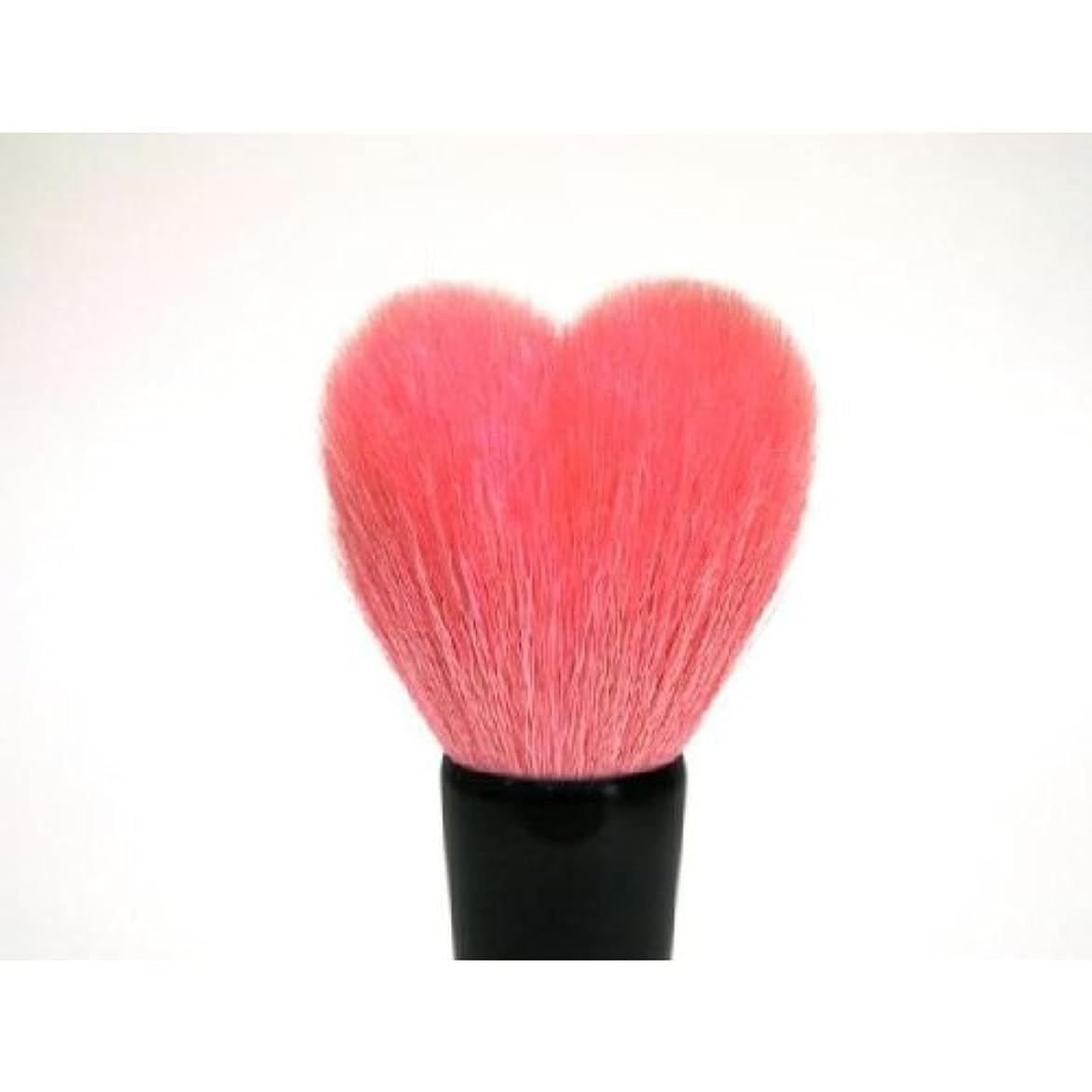 確認してくださいルートバックグラウンドハート型洗顔ブラシ(ピンク 熊野筆)/高さ80mm