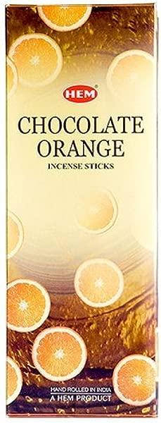Chocolate Orange Box Of Six 20 Stick Tubes HEM Incense