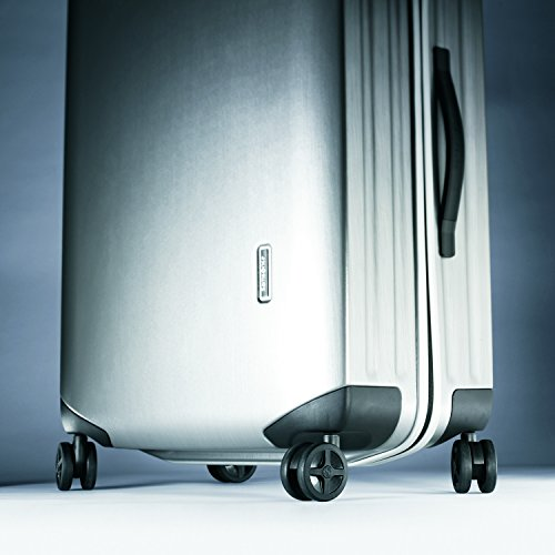 Samsonite Inova Hardside Luggage with Spinner Wheels Carry, Metallic Silver, 20-Inch