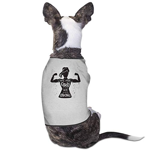 Jiaojiaozhe We Are Girls And We Are Strong Pet Service Pet Clothing Funny Dog Cat Kostuum Black, S, Grijs