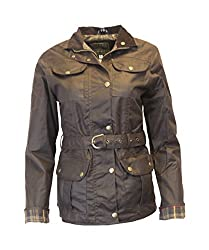 Biker Style Jacket Ladies fitted Jacket Fully adjustable Belt Waterproof Front 4 -pockets