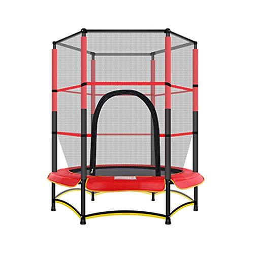 ASDFGHJKL Mini Elastic Rope Trampoline 55' with Safety Net Enclosure, Indoor Outdoor Children's Activity Junior