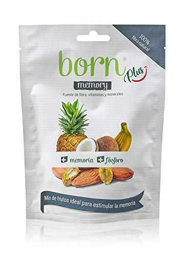 Born Memory - Mix de Fruta Semideshidratada y Frutos Secos 100% Naturales - Vegetariano, Vegano, Paleo, sin Gluten, sin Lactosa, sin Azúcar Refinado - Doy Pack 45 G