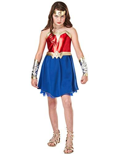 Rubie's- Costume per Bambini, Wonder Woman, Multicolore, L, IT640816, 9/10 anni