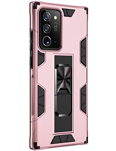 Funda para Samsung Galaxy Note20 Funda TPU 360 Degree Full Body Protective Shock Absorbing Scratch Resistant Mobile Case con función soporte Galaxy Note20 Ultra Case (Note20 Ultra, Rosa)