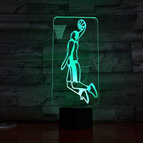 MCJDF 3d lednachtlampje, usb basketbalspeler, action figuur, kinderen, cadeau, babynachtlampje, sportlampje, nachtkastje