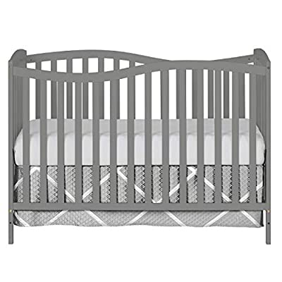Dream On Me Chelsea 5-in-1 Convertible Crib, Storm Grey by Dream on Me