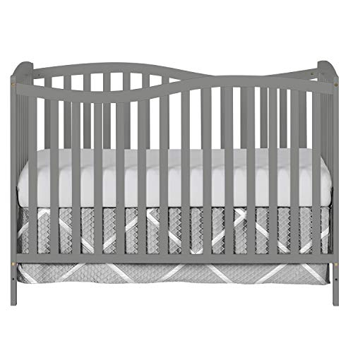Dream On Me Chelsea 5-in-1 Convertible Crib, Storm Grey