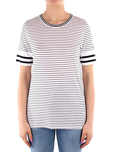 Tommy Hilfiger Ww0ww30823 - Camiseta para mujer Fine Court Stp - Funda para tabla de snowboard, color blanco S