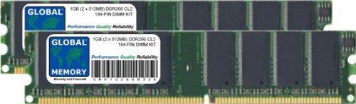 GLOBAL MEMORY 1 GB (2 x 512 MB) DDR266 MHz PC2100 184...