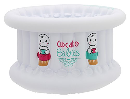 Cupcake Babies Baignoire Blanc + Gonfleur
