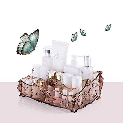 CMHC Maquillaje de Escritorio Organizador de la Piel Almacenamiento de cosmética Productos de Cuidado Caja de plástico de Almacenamiento en Rack (Color : Pink)