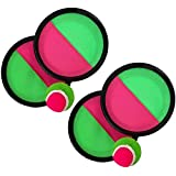 OPAMOO Catch Ball e Toss Game Set, Scossa e Catturare Appiccicoso Palla Set Lancio della Paletta Lanciare Palle 4 Pagaie e 2 Palle Set Catch Paddle Game Toys-Palla per Bambini per attività di Gioco