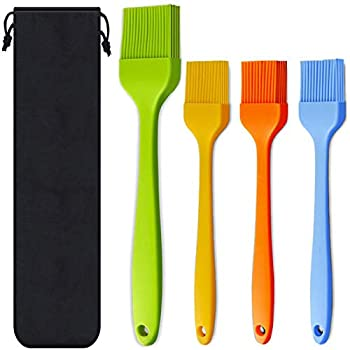 Silicone Basting Pastry Brush Spread Oil Butter Sauce Marinades for BBQ Grill Baking Kitchen Cooking Baste Pastries Cakes Meat Sausages Desserts Food Grade Dishwasher safe