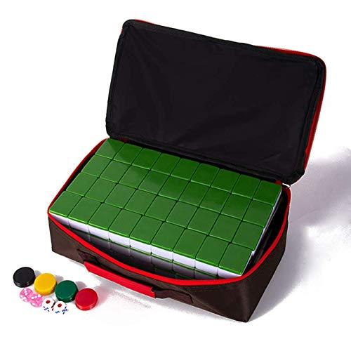 Dsgjjn Boutique Mahjong Set,Ausgewählte Umweltfreundliche Und Gesunde Acrylproduktion, Reiseset Mahjongg Majiang Mah Jongg Sets Majong Brettspiel,DarkGreen,M