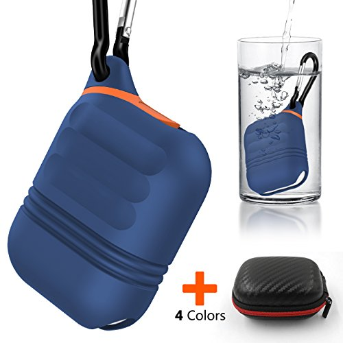 Apple Airpods Funda de Silicona Kppto, Airpods Case Protective, cubierta protectora impermeable de Airpods, Apple AirPods Accesorios a prueba de golpes de cubierta protectora