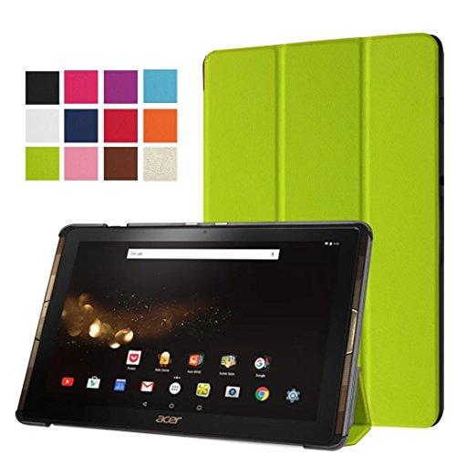 Acer Iconia Tab 10b3-a30/a3-a40Caso, Ultra Delgado Piel Sintética Folio Funda con Soporte para Acer Iconia One 10b3-a30/a3-a4010.0'Tablet Verde