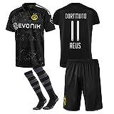 DGSFES 2019-2020 Neue Saison Borussia Dortmund Fussball Trikot Shorts Socken # 11 Marco Reus Fußball Trikot für Kinder Jugendliche Erwachsene-1-S(Height:162-170cm)
