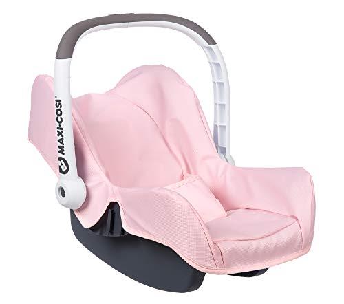 Smoby - Maxi Cosi Autositz - Autositz mit Tragebügel im Original Maxi-Cosi Design, Puppen-Zubehör für Puppen bis 42 cm, für Kinder ab 3 Jahren, rosa