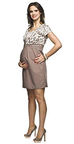 2in1 Elegantes und bequemes Umstandskleid/Stillkleid, Modell: Ronja, beige - 2