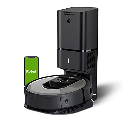 iRobot Roomba i6+ (6550) Robot Vacuum with Automatic Dirt Disposal-Empties Itself, Wi-Fi Connected, Works with Alexa, Carpets, + Smart Mapping Upgrade - Clean & Schedule by Room