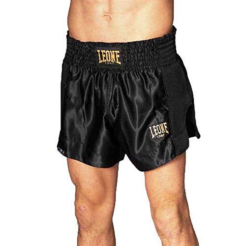 Leone 1947 Unisex Pantaloncini Kurze Hose Kick-Thai, Schwarz, S