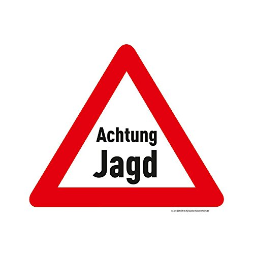 medienkraftwerk Achtung Jagd Ohne Datumsangabe - Warnschild - 3mm -