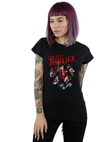 Michael Jackson Damen Thriller Ghouls T-Shirt Schwarz Medium