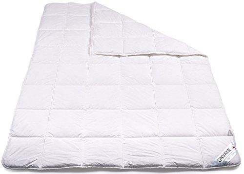 ONVAYA Evolon® Premium Allergiker Bettdecke 135 x 200 cm | Hausstauballergie | Milbendicht | Milbenschutz | Antibakteriell | Atmungsaktiv | Made in Germany