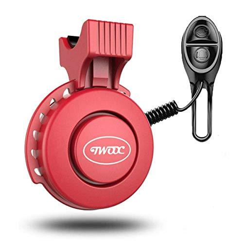 Zenyoumei Timbre eléctrico para Bicicleta, ABS y Material de PC, USB Recargable y Tres Modos de Sonido para Bicicleta de Carretera, Triciclo, Scooter, etc. (Red)