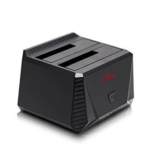 Syba SY-ENC50071 USB 3.0 UASP Dual Bay Hard Drive Docking Station with Duplicator Support