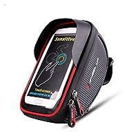 KAIJIEFU フレームバッグ 自転車 バッグ 軽量 大容量 日除け 多機能 防水 防圧 バッグ 軽便 取り付け簡単 遮光板