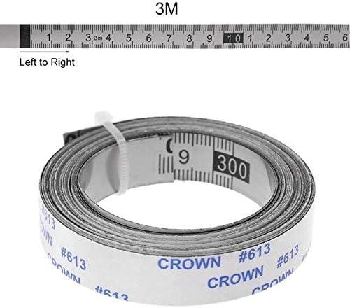 HARIKA - Stainless Max 48% OFF Steel Omaha Mall Miter Measure Adhesive Track Self Tape