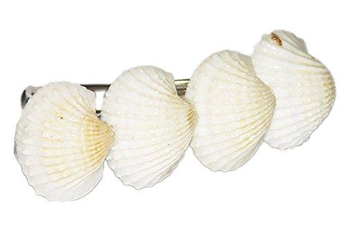 Weisse Muscheln - Haarspange - super Geschenkidee - Original ERRO Patent Haarspange - Spange aus Muscheln, Muschel Haarklammer, Crazy Clips Collection