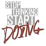 dekodino® Wandtattoo Fitness Spruch - stop thinking, start doing Wandsticker