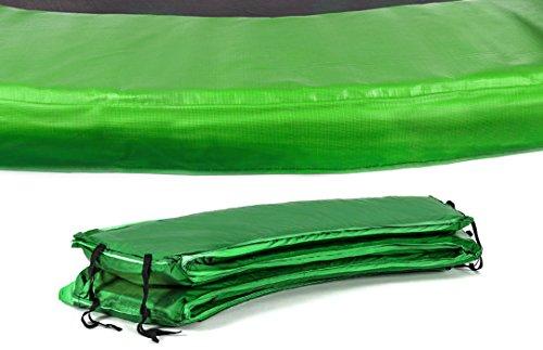 Hop-Sport Randabdeckung für das Gartentrampolin 244-490 cm Schutzrand Outdoor Trampolin Umrandung 366cm grün