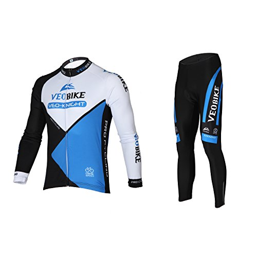 Asvert Abbigliamento Ciclismo Set Abbigliamento Sportivo per Bicicletta Traspirante Maglia Pantaloni da Uomo